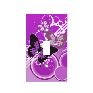 Circle Butterflies 4 Light Switch Cover