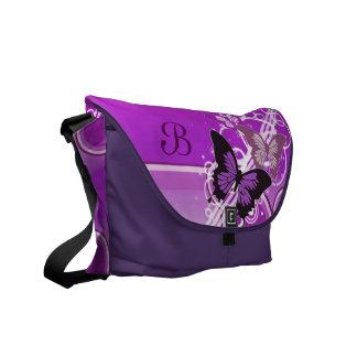 Circle Butterflies 4 Messenger Bag