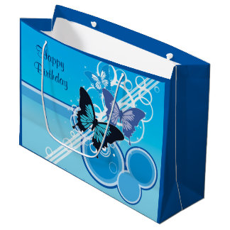 Circle Butterflies Large Gift Bag