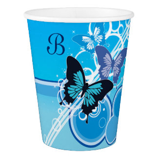 Circle Butterflies Paper Cup