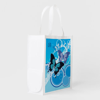 Circle Butterflies Reusable Grocery Bag