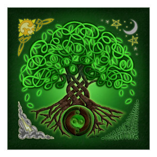 Circle Celtic Tree of Life Poster Print