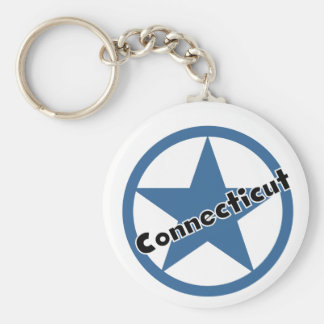 Circle Connecticut Keychain