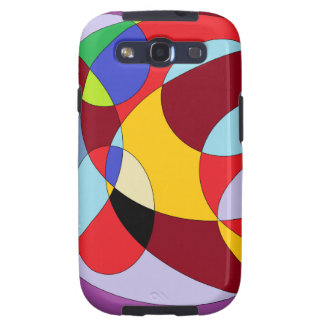Circle design with various colours. galaxy SIII covers