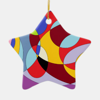 Circle design with various colours. ceramic star ornament