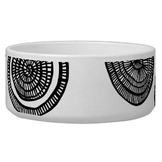circle doodle pet dish pet food bowls