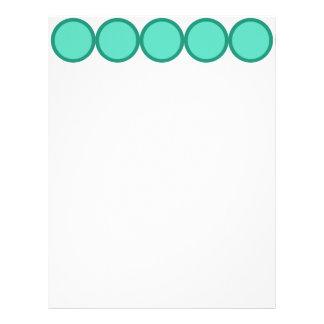 Circle dots design custom letterhead