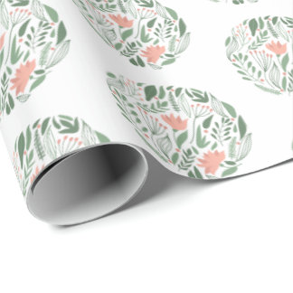 Circle Floral Mother's Day Wrapping Paper