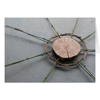 Circle Form 1 Right Wood and Bamboo Card