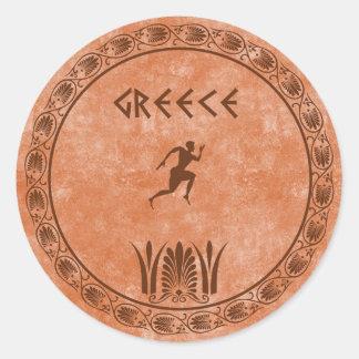 circle Greek design Classic Round Sticker