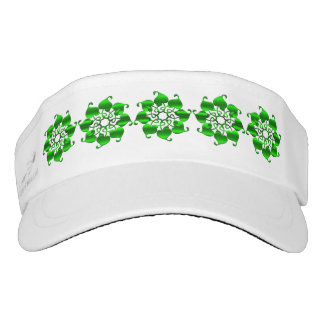 circle green leaves mandala. visor