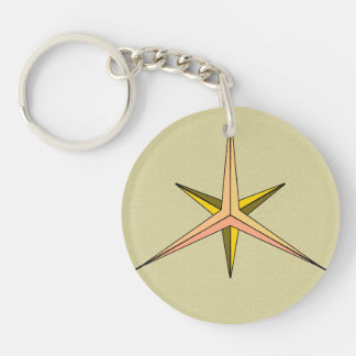 Circle Keychain Double Prop