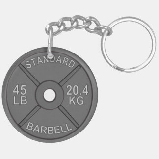 Circle Keychain with 45# Plate