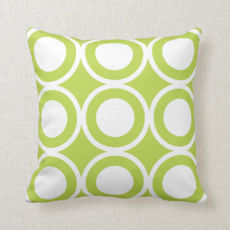 Circle Lattice Kiwi Throw Pillow