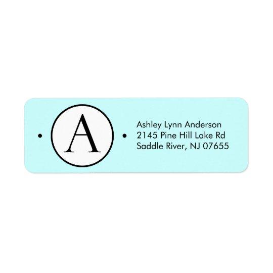 Circle Letter A Monogram Return Address Labels.