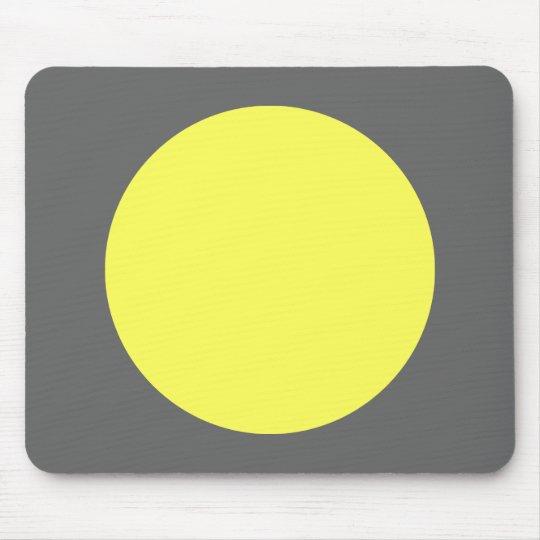 Circle - Lt Yellow and Grey Mouse Pad