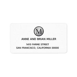 circle monogram bride & groom wedding white label