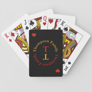 circle monogram family love poker deck