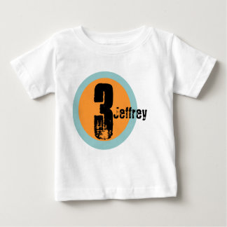 Circle Name and Age 3rd Birthday Tshirt