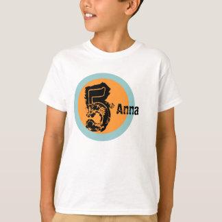 Circle Name and Age 5th Birthday Tshirt