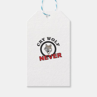 circle never cry wolf pack of gift tags