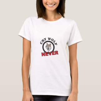 circle never cry wolf T-Shirt