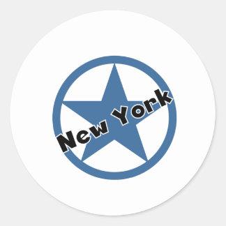 Circle New York Classic Round Sticker