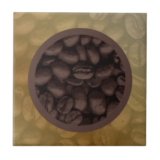 Circle Of Coffee Beans Tile