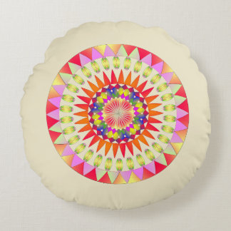 Circle of colors. round pillow