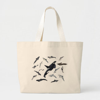 Circle of dolphins large tote bag