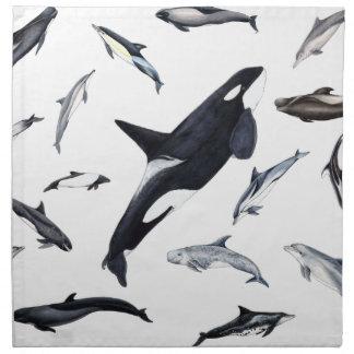 Circle of dolphins napkin