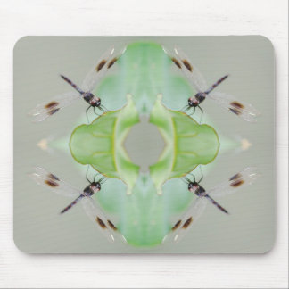 Circle of Dragonflies Mouse Pad