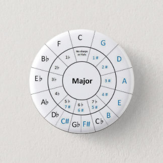 Circle of Fifths button pin