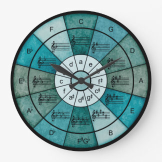 Circle of fifths elegant design for musicians clocks