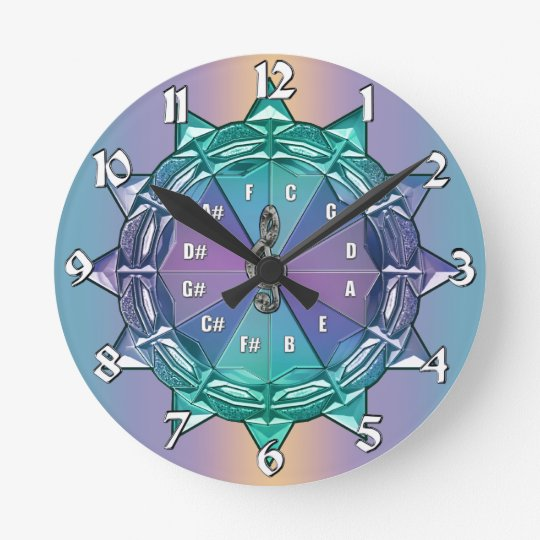 Circle of Fifths Mandala Music Clock