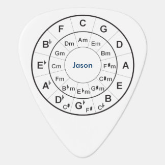Circle of Fifths personalized guitar pick