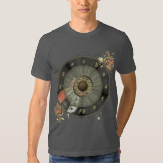 Circle Of Fifths Retro Guitar Shirts