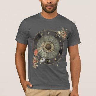 Circle Of Fifths Retro Guitar T-Shirt