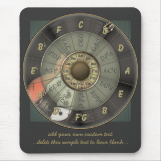 Circle Of Fifths - Vintage Guitar Personalized Mouse Pad