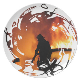 Circle Of Flames Dinner Plate