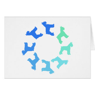 Circle of Giant Schnauzers (blue to green) Card