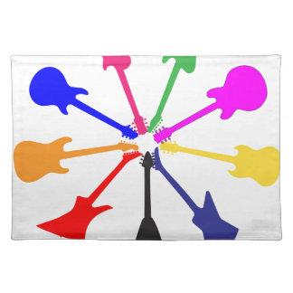 Circle Of Guitars Placemat
