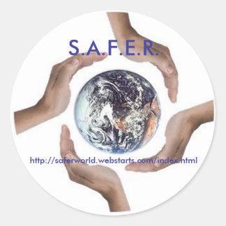 Circle_of_Hands, S.A.F.E.R., http://saferworld.... Round Sticker