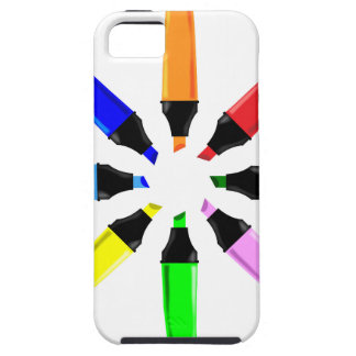 Circle of Highlighter Pens iPhone 5 Case