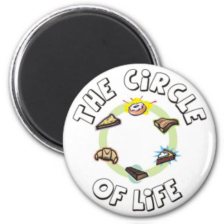 Circle of Life: Food, Meal, Dinner and Dessert Magnet