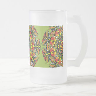 Circle of Life Frosted Glass Frosted Glass Beer Mug