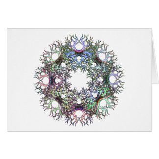 Circle of Life Pastel on White Greeting Card