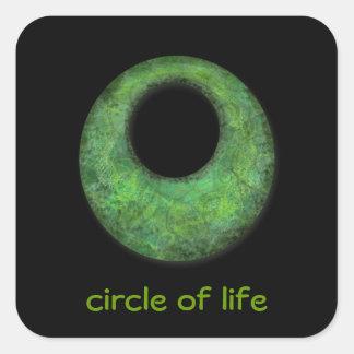 circle of life square sticker