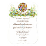 Circle of Love Flower Tree Wedding Invitation