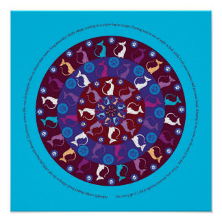 Circle of Love in Blue Poster